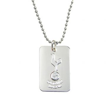 Tottenham Hotspur Silver Plated Dog Tag & Chain